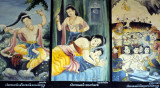 Wall paintings in a temple