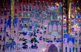 Luang Prabang. Mosaic  decoration  Wat Xieng Thong