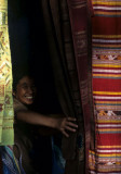 Pha Nom village where traditional fabrics are woven and sold by the village women