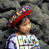 Gitrl in traditional costume of Santiage de Atitlan