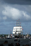 Stad Amsterdam heading the Parade of  the Tall Ships