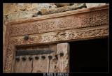 Orments engraved in a wooden door (Qurayat Fort)