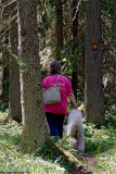 Bonnie and Hele in the nature reserve,