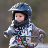 Loke at the BMX-track
