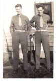 My father Sgt Richard Glenn on left
