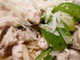 Home Cooking - Pasta from Napoli Pecorino Romano Organic Chicken Green Pepper P1010272.jpg
