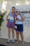Rachel Dowling of Philadelphia at left accepting Pocatello Marathon Award smallfile _DSC0610.jpg