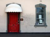 Enter by the red door ~
