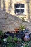 Pots under the window