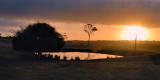 Sunset on the dam