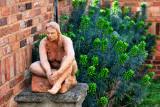 Garden clay statue