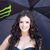 Brunette with brolly