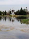 Windmill and lake