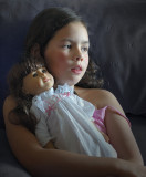 Alone with her doll