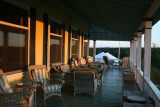 the inn's porch, late afternoon