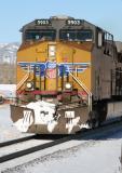 UP 5903 passes close