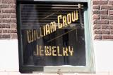 Old William Crow Jewelry sign