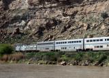 Amtrak along the Colorado river
