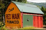 Chew Red Man Tobacco. Roaring Branch, Pa.