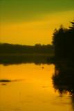 Roaring Creek Reservoir Sunset.