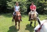 Lorri and I on our two criollo horses