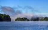 Fog Rising on St Nora Lake
