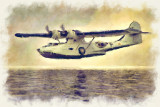 PBY-5A Canso Watercolour