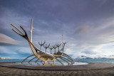 IMG_5419-Edit.jpg Sun Voyager (Icelandic: Sólfar) sculpture by Jón Gunnar Árnason - Reykjavik - © A Santillo 2014