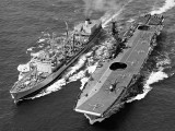 RFA-Tidepool-1.jpg RFA Tidepool refuelling at sea (RAS) with HMS Bulwark somewhere in the Mediteranean - 1969