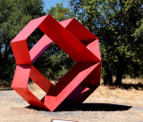 Red Metal Squares