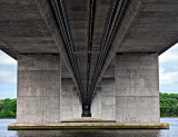 Under the Raymond E. Baldwin Bridge