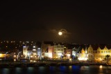Jan 31th 2018 Supermoon over Willemstad,Curacao