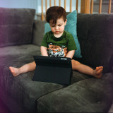 mastering the tablet (under strict supervision)