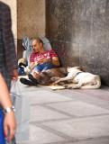Luxury and poverty. Corso Vittorio Emanuele, Piazza Duomo,Milano