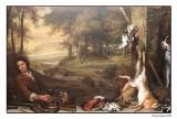 'Landscape with Huntsman and Dead Game' ~ Jan Weenix (1697)