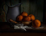 Navel Oranges with Pitcher