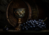 Copper Chalice with Grapes