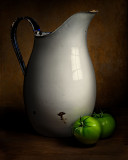 Pitcher with Green Tomatoes