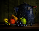 Fruit with Speckled Kettle