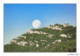 La lluna amagant-se pel Flare (Rossell / Vallibona)
