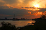 Mississippi River Sunset in Montz, Louisiana