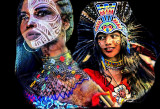 Images Of Decorated Faces And Bodies