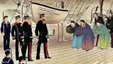 April 1895 - China surrenders to Japan