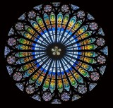 Rose window, Strasbourg Cathedral, Strasbourg, France