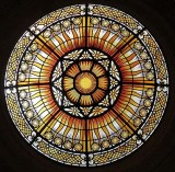 Stained glass dome, Peace Palace, The Hague, The Netherlands