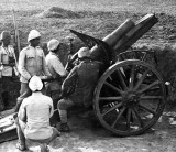 1917 - Turkish howitzer at Harcira, Palestine