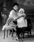 Wealthy woman with baby
