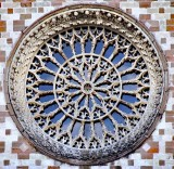 Exterior of rose window, Basilica of Santa Maria di Collemaggio-1287