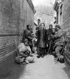 c. 1918 - Walking thru beggars to Temple