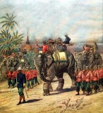 1893 - Siamese army on the march